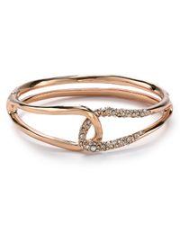 Alexis Bittar - Pink Liquid Rose Gold Interlocked Bracelet - Lyst