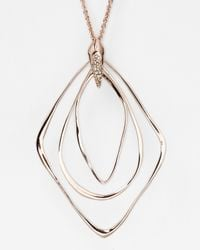 Alexis Bittar - Metallic Liquid Rose Gold Orbiting Pendant Necklace 32 - Lyst