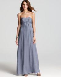 Amsale - Blue Strapless Dress Sweetheart - Lyst