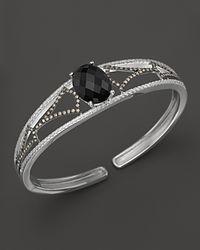 Badgley Mischka | Metallic Onyx And Diamond Cuff | Lyst