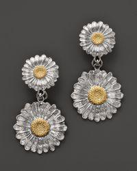 Buccellati | Metallic Daisy Pendant Earrings | Lyst