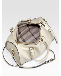 bca786d30716 Lyst - Burberry Alchester Bowling Bag in White