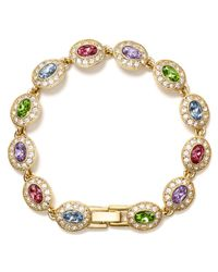 Carolee | Metallic Oval Stone Bracelet | Lyst