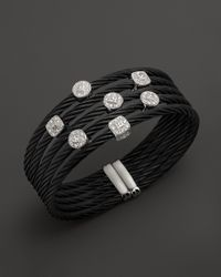 Charriol | 18K White Gold, Stainless Steel And Black Pvd Nautical Cable Bangle | Lyst