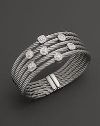 Charriol | 18K White Gold And Stainless Steel Nautical Cable Bangle | Lyst