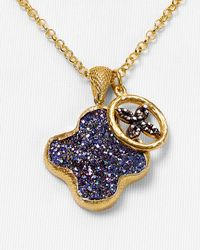 Coralia Leets - Metallic Drusy Clover Pendant and Daisy Charm Necklace 18 - Lyst