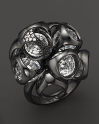 Di Modolo - Black Icona Cluster Ring with Pave Diamonds and Rock Crystal - Lyst