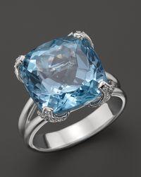 Di Modolo - Metallic Blue Topaz Diamond Oversize Stone Ring 12 Ct Tw - Lyst