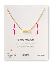 Dogeared | Metallic Love Is The Answer Necklace 18 | Lyst
