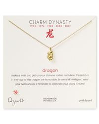 Dogeared - Metallic Year Of The Dragon Dynasty Charm Necklace 18 - Lyst