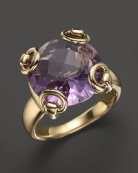 Gucci | 18k Yellow Gold Amethyst Horsebit Cocktail Ring | Lyst
