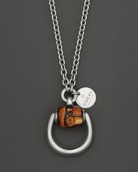 Gucci | Metallic Bamboo Horsebit Necklace 22 | Lyst