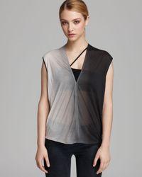 Helmut Lang | Black Shirt Shadow Ombré Jersey | Lyst