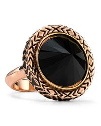 House of Harlow 1960 | Metallic Scry Stone Jet Black Cocktail Ring | Lyst