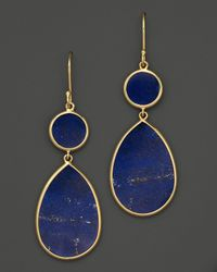 Ippolita | Metallic 18k Gold Polished Rock Candy Snowman Earrings in Lapis | Lyst