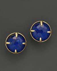 Ippolita - Metallic 18k Gold Rock Candy Gelato Stud Earrings in Lapis Doublet - Lyst
