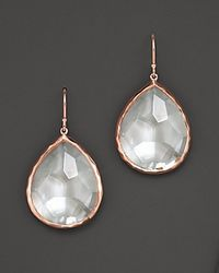 Ippolita | Metallic Rosé Large Teardrop Earrings With Clear Quartz | Lyst