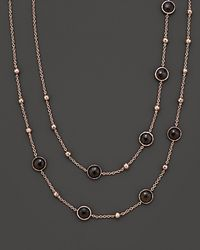 Ippolita - Metallic Rosé Mini Lollipop And Ball Necklace In Smoky Quartz - Lyst