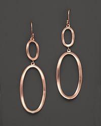 Ippolita - Pink Ippolita Rose Wavy Link Earrings - Lyst