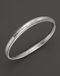 Ippolita | Metallic Sterling Silver Glamazon Skinny Sculpted Bangle | Lyst