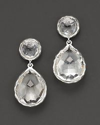 Ippolita - Metallic Sterling Silver Rock Candy® Snowman Drop Earrings In Clear Quartz - Lyst
