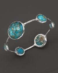 Ippolita - Metallic Sterling Silver Wonderland Lollipop Bangle In Bronze Turquoise - Lyst