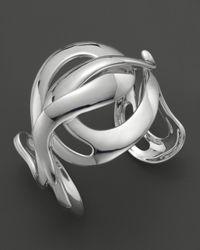 Ippolita - Metallic Ippolita Sterling Silver Scultura Large Wavy Cuff - Lyst