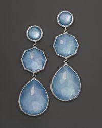 Ippolita - Metallic Sterling Silver Wonderland Crazy 8'S Earrings In Sky Doublet - Lyst