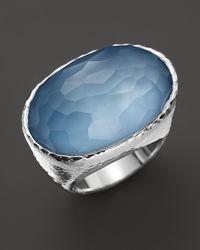 Ippolita | Metallic Ippolita Sterling Silver Wonderland Oval Ring in Sky Doublet | Lyst