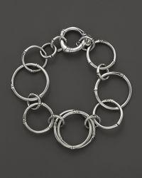 John Hardy | Metallic Bamboo Silver Round Link Bracelet | Lyst