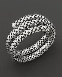 "John Hardy | Metallic ""dot"" Coil Bracelet | Lyst"