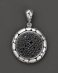 "John Hardy | Metallic ""Kali Lavafire"" Medium Round Enhancer With Black Sapphires 