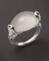 John Hardy - Metallic Kali Silver Batu and Lava Small Oval Ring with Milky Quartz and Rainbow Moonstone - Lyst