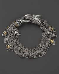 John Hardy | Metallic Naga 18k Gold And Silver Dragon Bracelet | Lyst