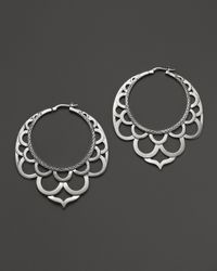 John Hardy - Metallic Naga Silver Lace Hoop Earrings - Lyst