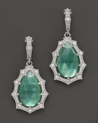 Judith Ripka - Green Bright Nite Small Pear Stone Earrings On Wire - Lyst