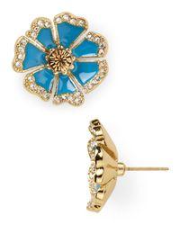 kate spade new york - Blue Garden Grove Large Stud Earrings - Lyst