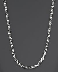 "Lagos | Metallic Sterling ""caviar"" Silver Rope Chain Necklace, 16"" 