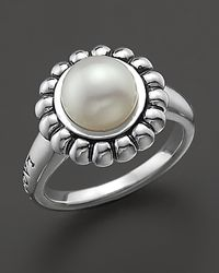 "Lagos | Metallic Sterling Silver And Pearl ""luna"" Ring 