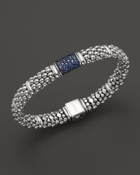 Lagos | Metallic Muse Sterling Silver Bracelet with Blue Sapphire | Lyst
