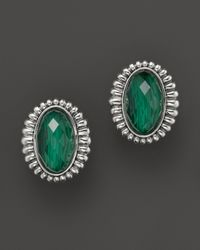 Lagos | Metallic Venus Link Sterling Silver Earrings with Malachite Doublet | Lyst