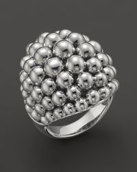 Lagos | Metallic Signature Caviar Sterling Silver Ring | Lyst