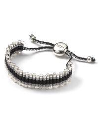 Links of London - Black Links Of London Grey Zigzag Friendship Bracelet - Lyst