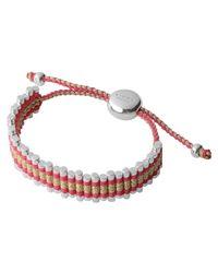 Links of London - Zigzag Red Gold Friendship Bracelet - Lyst