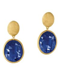Marco Bicego | 18k Yellow Gold Siviglia Blue Sapphire Earrings | Lyst