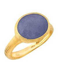 Marco Bicego - 18k Yellow Gold Siviglia Sapphire Ring - Lyst