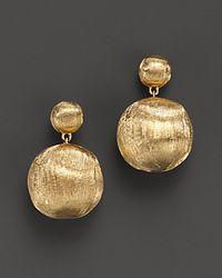 Marco Bicego - Metallic 18 K Yellow Gold Bead Drop Earrings - Lyst