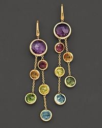 Marco Bicego | Jaipur 18 K Yellow Gold And Multi-stone Double Drop Earrings | Lyst