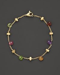 "Marco Bicego | Multicolor ""paradise Collection"" 18 Kt. Yellow Gold Bracelet 