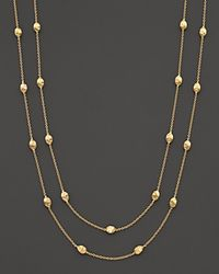 "Marco Bicego | Metallic ""siviglia Collection"" Small Bead Extra Long Gold Necklace, 47.25"" 